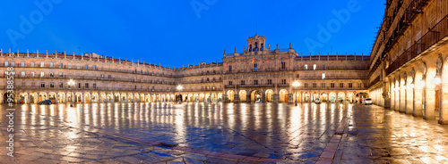 Carta da parati Plaza Mayor at night, Salamanca, Spain