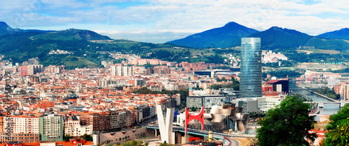 fototapeta na ścianę View of city Bilbao, Spain