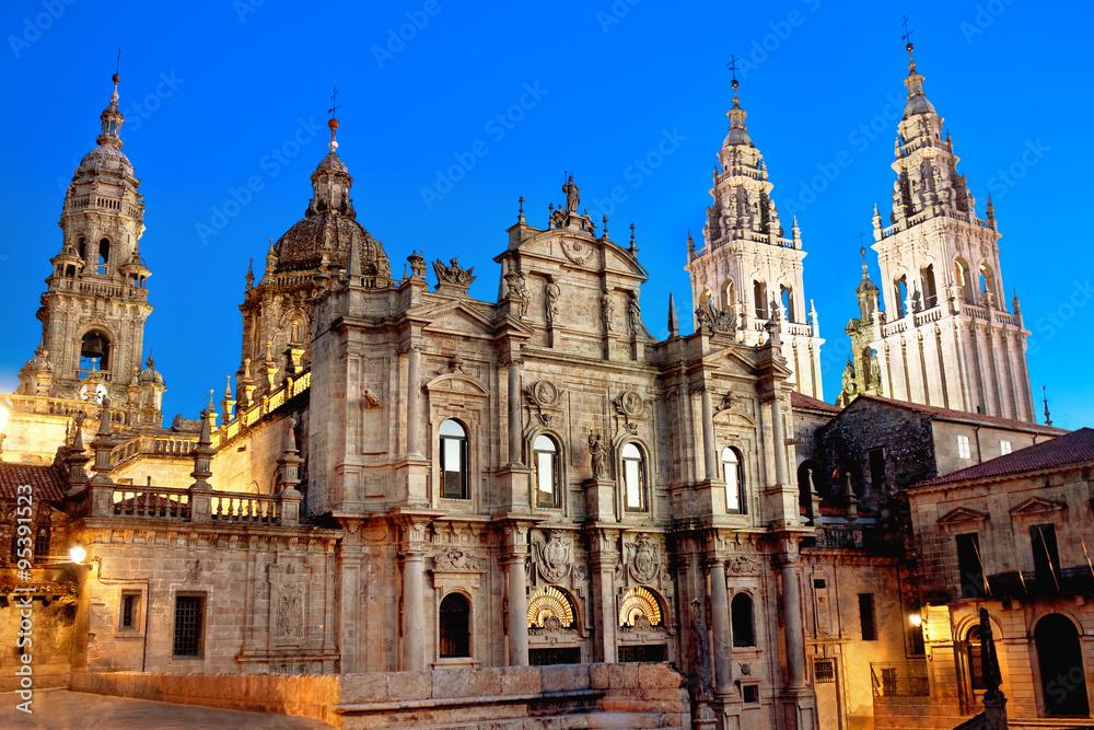 Fototapety, obrazy: Cathedral of Santiago de Compostela. Galicia, Spain