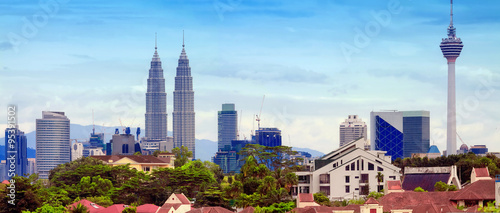 Poster de jardin Kuala Lumpur Views of Kuala Lumpur, Malaysia