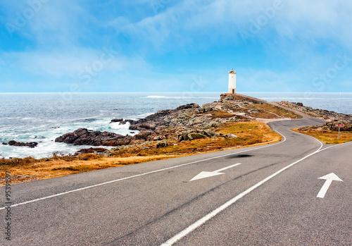 Photo  Lighthouse Of Cabo Vilan, Galicia, Spain