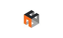 Letter H Box Modern Logo