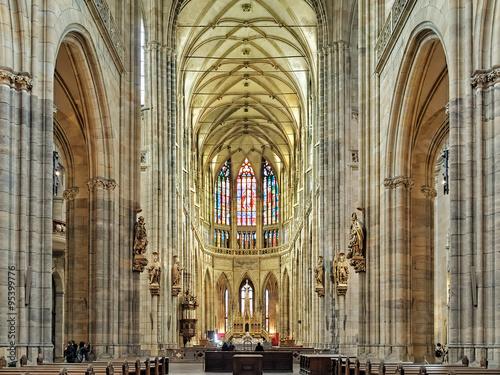 Edifice religieux Interior of St. Vitus Cathedral in Prague, Czech Republic