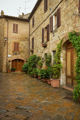 Fototapeta na wymiar traditional pictorial streets of old italian villages