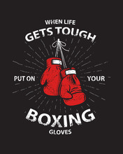 Grunge Boxing Motivation Poster And Print