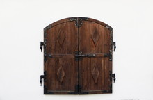 Wooden Shutters With Forged Cu...