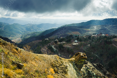 Troodos mountains landscape. Cyprus