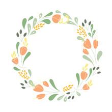 Floral Vector Frame