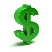 Dollar Green Symbol In Style