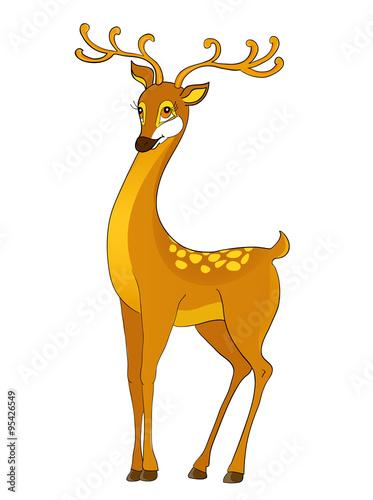 deer cartoon Poster