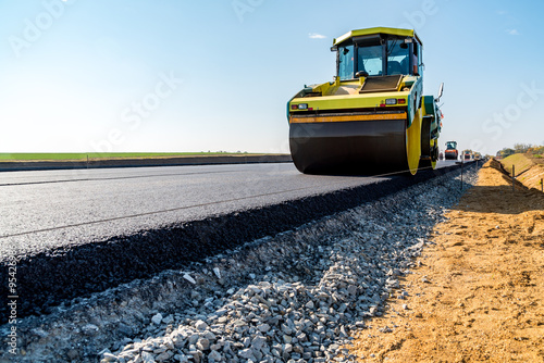 New road construction Canvas