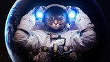 Beautiful cat in outer space. Elements of this image furnished by NASA - 95433780