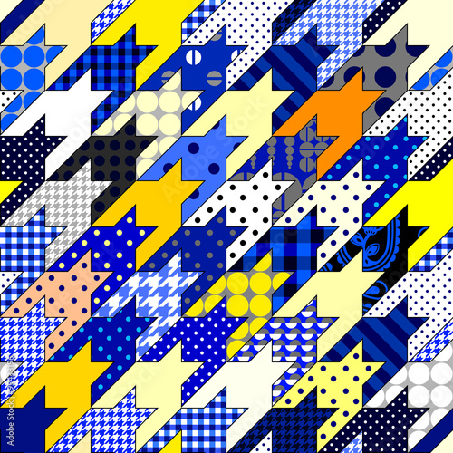Photo  Patchwork of hounds-tooth