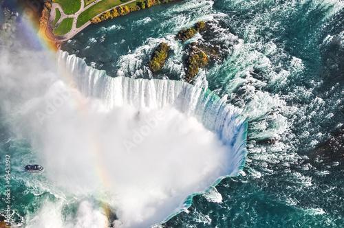 Fotografia Niagara Falls aerial view Canada