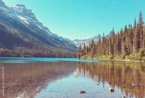 Foto op Canvas Turkoois Glacier Park