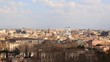 The view from the Janiculum Hill (Gianicolo). Rome, Italy. TimeLapse. 4K