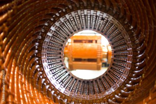 Fotografie, Tablou  Stator of a big electric motor