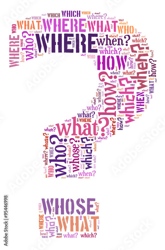 Fotografie, Obraz  Question mark illustration concept