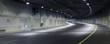 Leinwanddruck Bild - Highway at Night