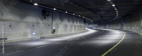 Poster Autoroute nuit Highway at Night