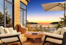 Beautiful Sunset On The Terrace