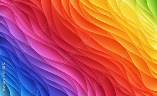 Foto op Aluminium Abstract wave Color waves. Abstract background.