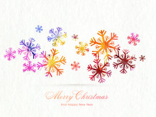 Colorful Snowflakes For Christmas And New Year.
