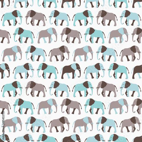 Zwierzę bez szwu wzór słonia