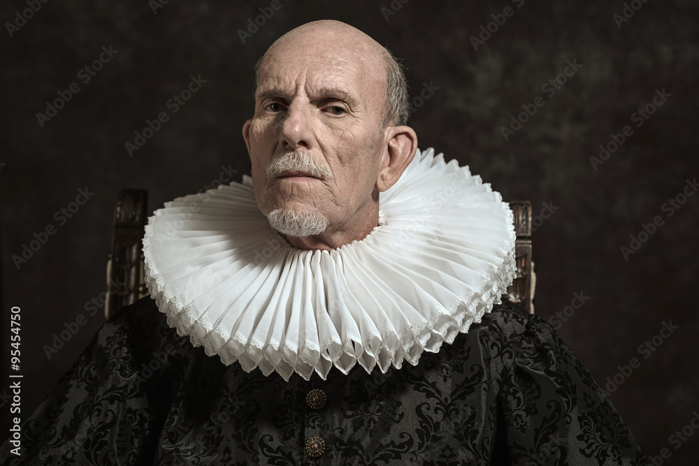 Fototapeta Official portrait of historical governor from the golden age. Si