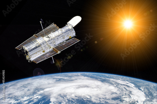 Valokuva Hubble telescope observe the sun - Elements of this image furnished by NASA
