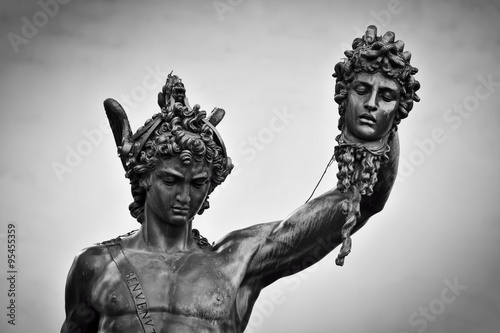 Fotografia, Obraz Ancient sculpture of Menelaus supporting the body of Patroclus