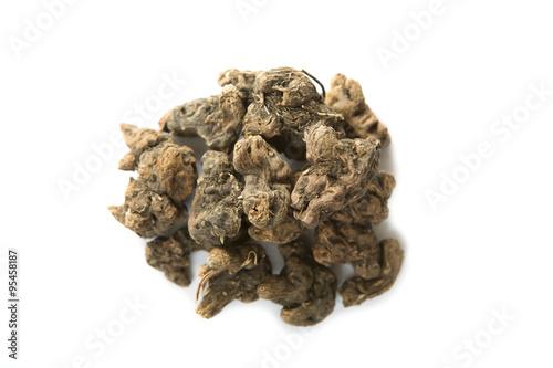 Fotografering  Dry Alpinia Galanga, Tormentil - Potentilla erecta
