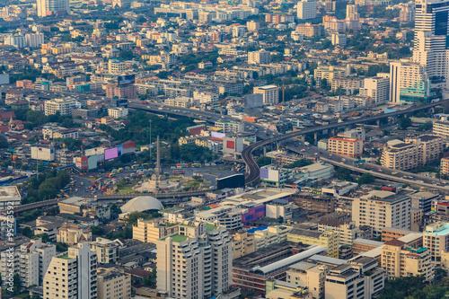 Bangkok city skyline at victory monument - Thailand Poster