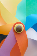 Close-up Of A Multi-colored Pinwheel