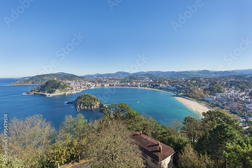 Photo  Bay of San Sebastian, Gipuzkoa, Basque country, Spain.