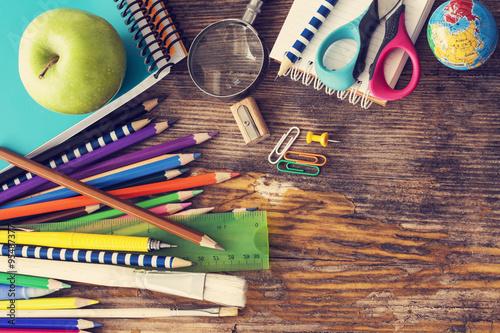Fotografie, Tablou  School supplies