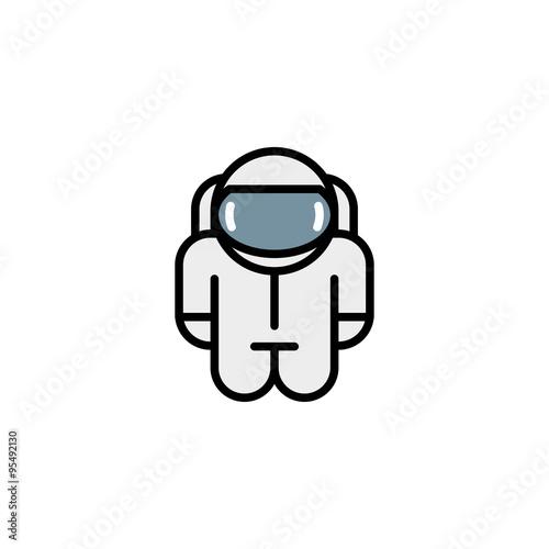 Fotografia, Obraz  astronaut robot toy. vector icons