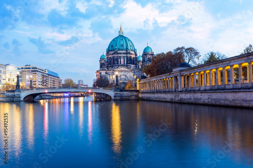 Fototapety, obrazy: Berlin Cathedral at night