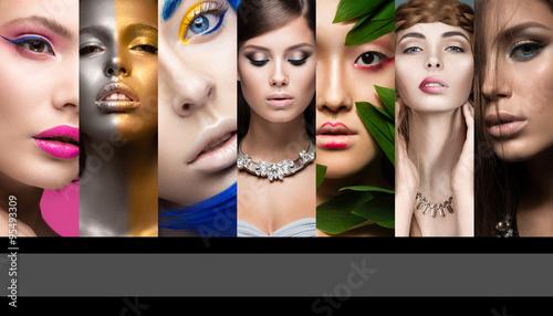 kolekcja-sztuki-i-makijazu-wieczorowego-piekne-dziewczyny-piekna-twarz