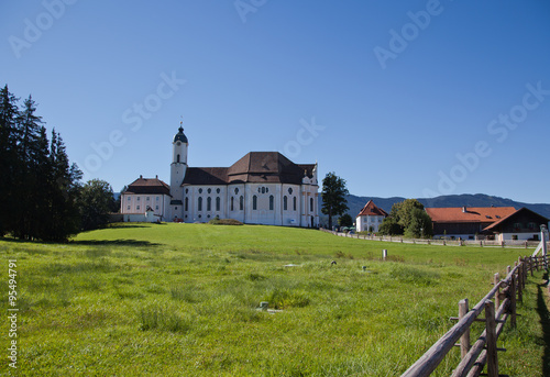 Photo The Bavarian Wieskirche is one of the most famous places of pilgrimage in Germany
