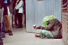 Homeless Girl Is Begging For M...