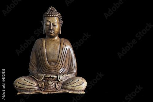 Cuadros en Lienzo Estatua de Buda de madera