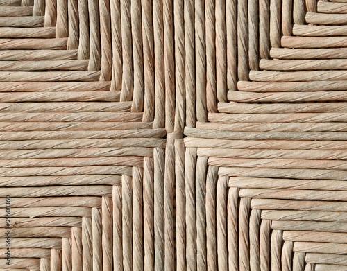 Fotografiet  Background of wicker woven by an artisan