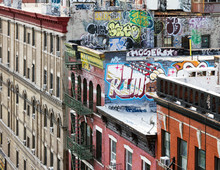 Buildings Along A New York City Block In Manhattan