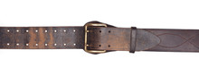 Old Leather Belt Isolated On W...