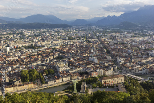 Foto op Aluminium View on Grenoble in France