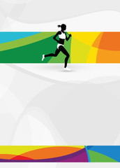 Fototapeta Bieganie Running sport background