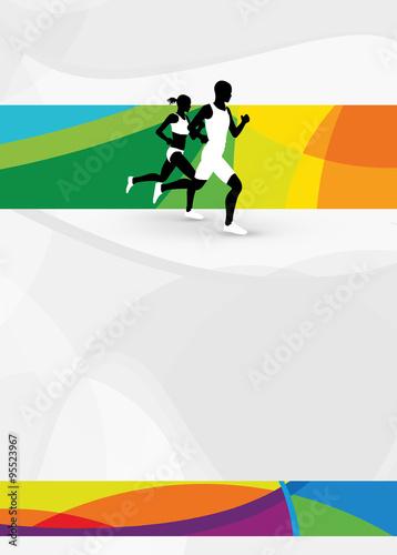 Fotografía  Running sport background