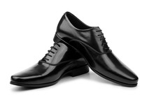 Male Black Shoes Isolated On W...