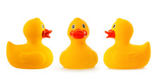Yellow Rubber Duck Isolated On White